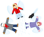 Snow angels Stock Photos