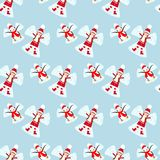 Snow angels pattern Stock Images