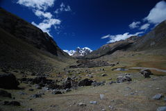 Snow in the Annapurna, Nepal Royalty Free Stock Image
