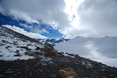 Snow in the Annapurna, Nepal Royalty Free Stock Photo