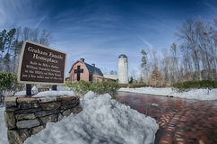 Snow around billy graham library Royalty Free Stock Images