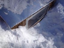 Snow around the coop Stock Photography