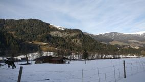 Snow. Austria  snowing krimml Gerlos Royalty Free Stock Image