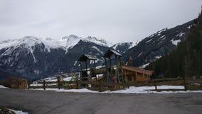 Snow. Austria  snowing krimml Gerlos Stock Photo