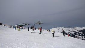 Snow. Austria  snowing krimml gerlos Royalty Free Stock Photos