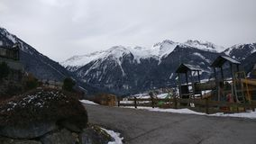 Snow. Austria snowing krimml Gerlos stock photos