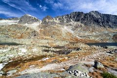Autumn in High Tatras mountains, Slovakia Royalty Free Stock Images