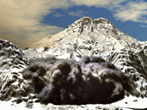 Snow avalanche Royalty Free Stock Photos