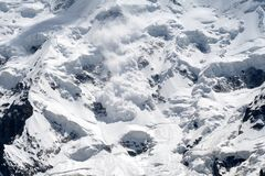 Snow avalanche Stock Photography