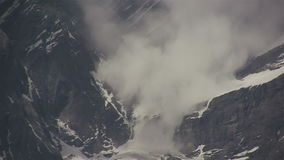 Snow avalanche in the Highlands stock video