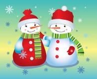 Snow babies snowman Stock Photography