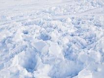 Snow Background. White snow background. Photo taken in a ski resort Stock Photos