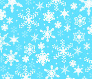 Snow background. Background with white snow star Stock Photo