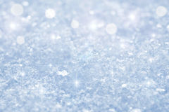 Snow background. Abstract snow background with sparks Stock Images