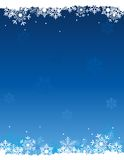 Snow background. Snow winter background with falling white snowflakes Stock Photo