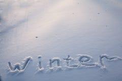 Snow background Stock Image