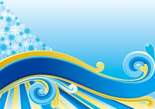 Snow background Royalty Free Stock Photography