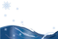 Snow background. Background image with snow wawes and snowflakes Royalty Free Stock Photos