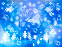 Snow background (blue) Stock Photography