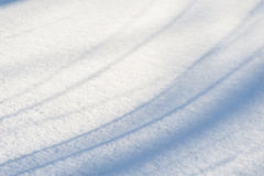 Snow background with blue shadows Royalty Free Stock Photo