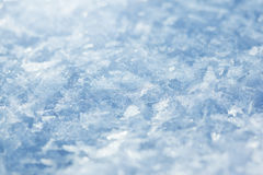 Snow background, blue toned Royalty Free Stock Photography