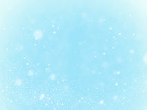 Snow, background and bokeh. Concept - winter, Royalty Free Stock Image