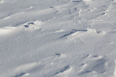 Snow background with bumps Stock Photos