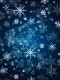 Snow Background. Christmas and New Year shimmering background with snowflakes Stock Photo