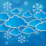 Snow background or forecast of snowy winter Royalty Free Stock Photo
