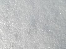 Snow background. Background of Fresh Snow.Snow texture.Real shining snow Royalty Free Stock Photography