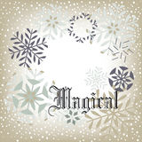 Snow background - Magical Stock Images