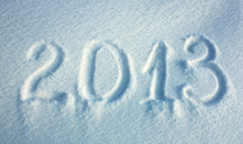 Snow background of New year 2013 Stock Images