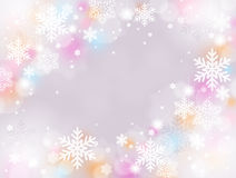 Snow background. Pale color of Christmas snow decoration background Royalty Free Stock Photo