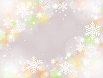 Snow background. Pale color of Christmas snow decoration background Royalty Free Stock Images