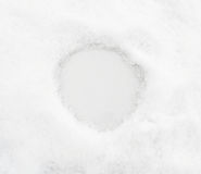 Snow background with place for text or numeral Stock Photography