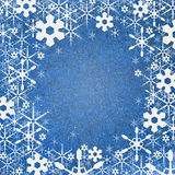Snow background recycle paper craft Royalty Free Stock Images