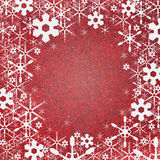 Snow background recycle paper craft Stock Images