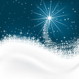 Snow  background with snowflakes, Merry Christmas greetings. Royalty Free Stock Photos