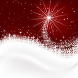 Snow  background with snowflakes, Merry Christmas greetings. Royalty Free Stock Images