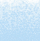 Snow background. Snowflakes seamless pattern. Winter snowy seaml Royalty Free Stock Images