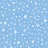 Snow background. Snowflakes texture. Blue snow falling pattern Royalty Free Stock Photo
