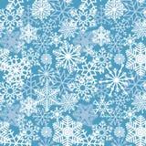 Snow background. Snowflakes texture. Blue snow falling on white Royalty Free Stock Image