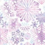Snow background. Snowflakes texture. Blue snow falling on white Stock Photography