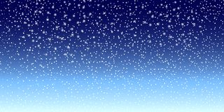 Snow background. Vector illustration with falling snowflakes. Winter snowing sky. Vector stock illustration