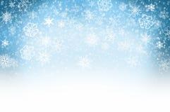 Snow Background. Winter illustration: Light blue snow background Royalty Free Stock Image