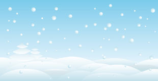 Snow backround Stock Images