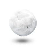 Snow ball. White ball made of snow Stock Photos