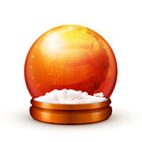 Snow ball. Object on white background Royalty Free Stock Photos