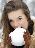 Snow ball concept Royalty Free Stock Image
