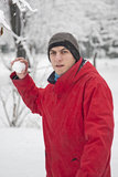 Snow ball fight Royalty Free Stock Photography